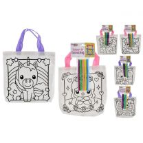 Colour Your Own Canvas Bag (6 Assorted)