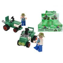 Tractor Brick Sets (2 Assorted) In Display Box