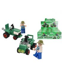 Tractor Brick Sets (2 Asst'd) In Display Box
