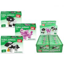 """M.Y"" Farm Animal (3 Assorted) Brick Sets: LEGO Compatible"
