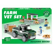 268pc Farm Vet Brick Set: LEGO Compatible
