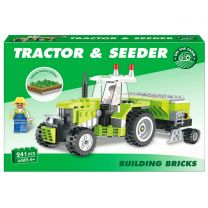 259pc Tractor & Seeder Brick Set: LEGO Compatible