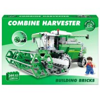 344pc Combine Harvester Brick Set: LEGO Compatible.