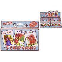SupeRetro Toys Set Of 3 Childrens Classic Card Games