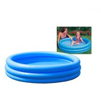 "Intex 45"" x 10"" 3 Ring Crystal Blue Pool In Polybag:"