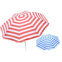 "34"" Rib Uv Beach Parasol (2 Asst) With Tilt In Pvc Bag (Umbrella)"