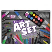 86pc art set in coloured case