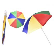 "34"" Rib Uv Beach Parasol With Tilt In Pvc Bag (Umbrella)"