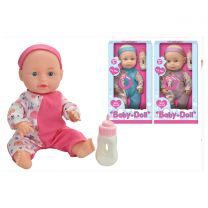 "10"" Baby Doll with Sounds and Feeding Bottle"