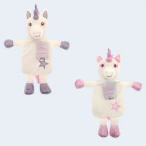 Unicorn Design Hot Water Bottles with Cover - Assorted