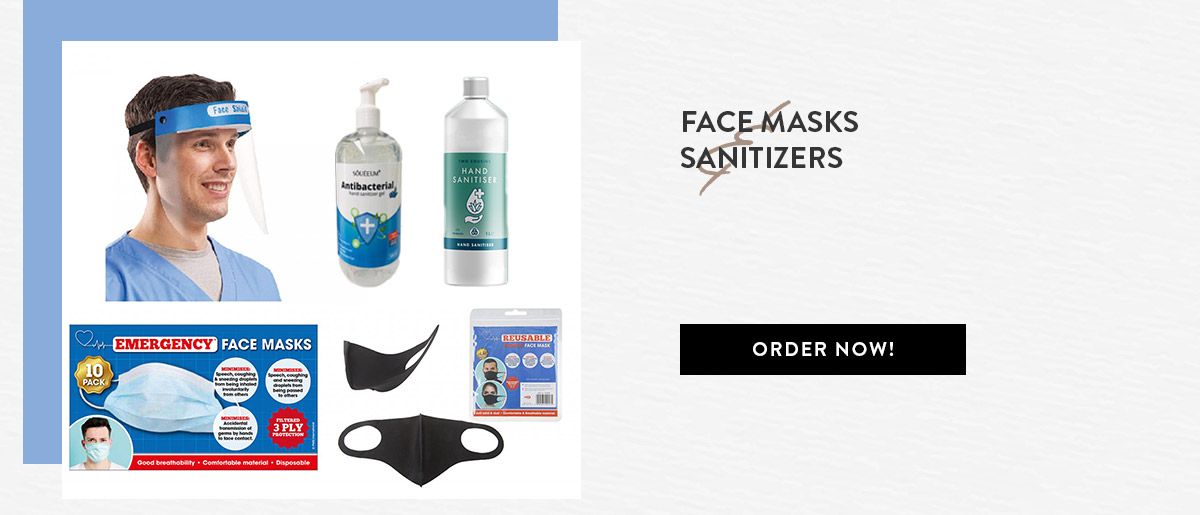 Face Masks And Sanitizers