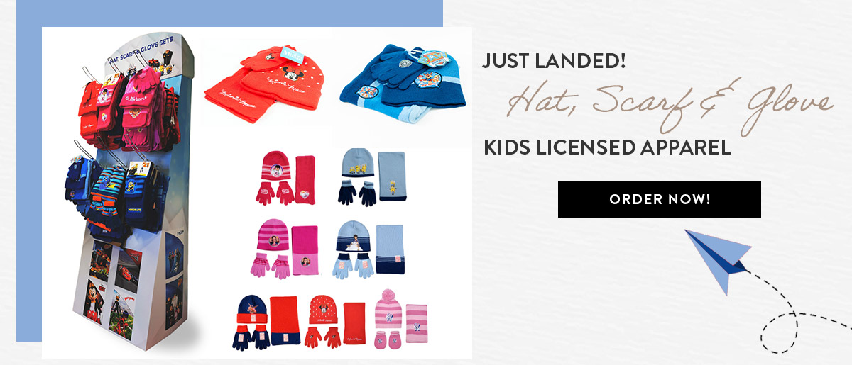 Kids Licensed Apparel Hat Scarf Glove Sets
